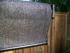 Petra's 6 x 6 Ft. (Black) Roll Up Solar Sun Screen Blind w/UV Protection.