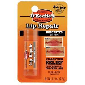 OKeeffes Lip Repair Stick 4.2g - Lip Balm - Unscented - Choice of 1 2 or 3 Stick