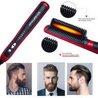 Quick Heated Beard Straightener Brush Hair Comb Curling Show Cap Multifunctional