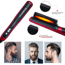 Quick Heated Beard Straightener Brush Hair Comb Curling Show Cap Multifunctional