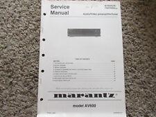 New listing Marantz Av600 U K 74Av600 Av Preamplifier tuner Original Service Repair Manual