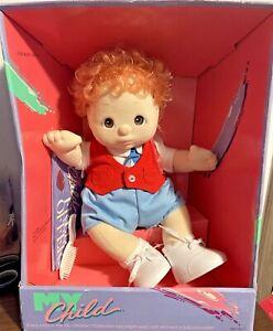 1985 Mattel ~ MY Child Red Hair BOY Doll ~ NIB