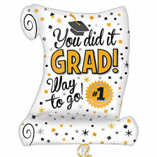 "26"" Graduation You Did It Grad Party Degree Scroll Foil Supershape Balloon"
