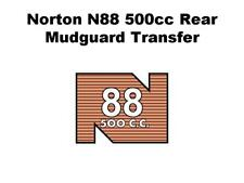Norton N88 500cc Rear Mudguard Transfers and Decals Motorcycle D50185