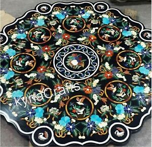 48 Inches Marble Patio Sofa Table Pietra Dura Art Dining Table Top for Home