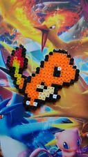 Pokemon Charmander Handcrafted Perler Bead Art Ornament Pixel Art
