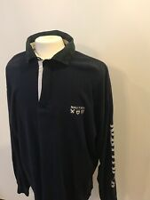 Vintage Nautica Spellout Long Sleeve Rugby Sz 2xl
