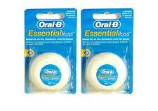 2x Oral B ESSENTIAL FLOSS FILO INTERDENTALE ungewachst neutro 50m