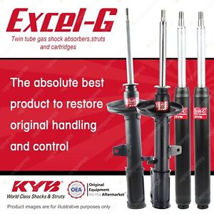 Front + Rear KYB EXCEL-G Shock Absorbers for TOYOTA Celica ST184R 5SFE 2.2 FWD