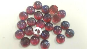 24 vintage czech round 13mm RED MEXICAN OPAL CABOCHONS