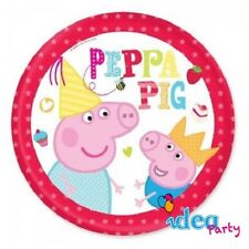 PIATTI PEPPA PIG e GEORGE 23 cm addobbi tavola festa compleanno bambina 8 pz