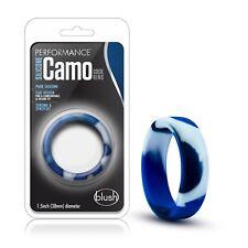 "Performance Silicone Camo Cock Ring Blue Camouflage 1.5"" Diameter Bigger Bulge"