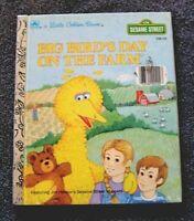 a Little Golden Book SESAME STREET Big Bird's Day On The Farm (1985 hardcover)