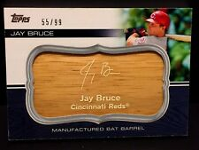 JAY BRUCE 2010 Topps Manufactured BAT BARREL Card  #MBB-83 Serial #d /99 REDS