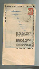 1947 Saumur France Air Show Sheet Cover paratroopers Maine Anjou Air CLub