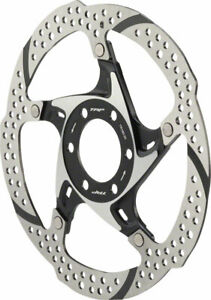 TRP 33 180mm Heat Dispersion 6-Bolt Disc Brake Rotor: 2 Piece Silver and Black