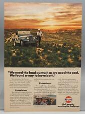 Vintage Magazine Ad Print Design Advertising Gulf Petroleum Coal
