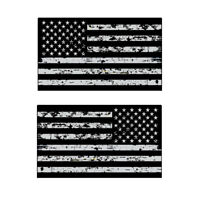 Distressed Black American Flag Sticker Decal Subdued USA Decal Car Accessories