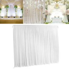 10ft*10ft Silk Wedding Stage Photography Backdrop Curtain Drape Party Decoration