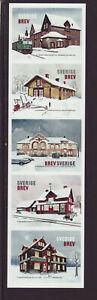 Sweden 2019 MNH - Station buildings - set of 5 stamps