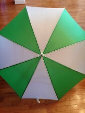 NEW Large Oversized Windproof Water Repellent Rain Umbrella Green White