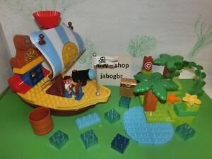 (HK / 256) LEGO Duplo Jake`s Piratenschiff Insel