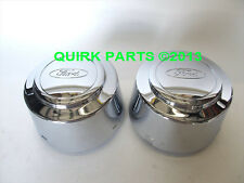 Ford F250 F350 Chrome Rear Wheel Cover Center Caps Set of 2 OEM NEW Genuine