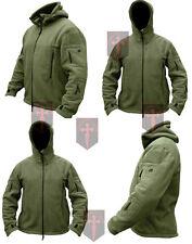Black / Olive Green Fleece Recon Hoodie ( All Sizes unisex military design Warm