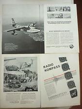 4/1963 PUB HYDRAVION GRUMMAN SA-16B ALBATROSS / SIKORSKY S-61 JEEP GERMAN AD
