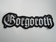 GORGOROTH EMBROIDERED LOGO BLACK METAL BACK PATCH