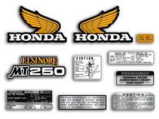 1974 Honda MT250 Elsinore - 10 piece decal set