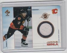 00-01 2000-01 PRIVATE STOCK JAROME IGINLA GAME GEAR JERSEY 11 CALGARY FLAMES