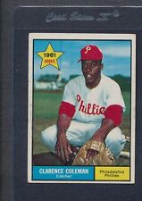 1961 Topps #502 Clarence Coleman Phillies VG/EX *1071
