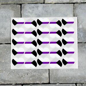 25 x Demisexual Flag Heart Stickers Decals LGBTQ Pride - 37mm x 30mm - SKU7160