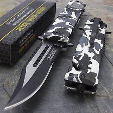 """7.5"""" GLASS BREAKER SPRING ASSISTED CARBON TACTICAL FOLDING KNIFE Pocket Blade"""