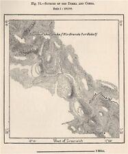 Fuentes de la Dimma y comba Ríos. Guinea/Mali 1885 Cuadro De Mapa Antiguo Viejo