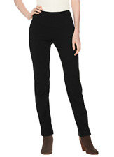 Women with Control Petite Tummy Control Slim Leg Pant A284090 Petite Small Black