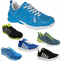 MENS RUNNING TRAINERS CASUAL LACE UP WALKING AIR SHOCK ABSORBING GYM SHOES SIZE