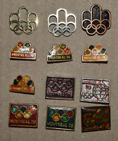 MONTREAL Olympics 1976 logo Canada 76 vintage pin badge lot all different