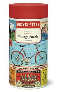 Cavallini - Vintage Jigsaw Puzzle - 1000 Pieces/55x70cms - Bicycles/Bicyclettes