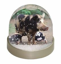 AP-20GL Cute Pink Pig Photo Snow Globe Waterball Stocking Filler Gift