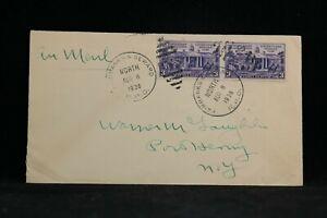 RPO: Fairbanks & Seward North 1938 Airmail Cover, Alaska Railroad