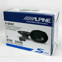 "ALPINE S-S69C S-SERIES 6""x9"" 260W 2-WAY COMPONENT CAR AUDIO SPEAKER SYSTEM SS69C"