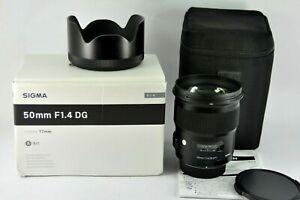 Sigma 50mm f1.4 DG Art Nikon lens F Mount UK Seller Boxed