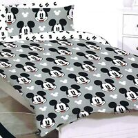 Mickey Mouse - Disney - Faces - Single/US Twin Bed Quilt Doona Duvet Cover Set