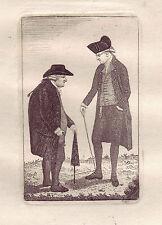 JOHN KAY original antique Gravure. Provost David Steuart et Bailie John..., 1784