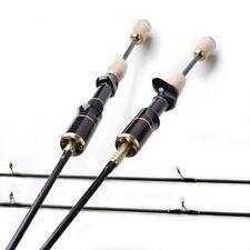 Black Bait Cast Spinning Casting Fishing Rod  Medium Heavy Action Cork Wood Pole