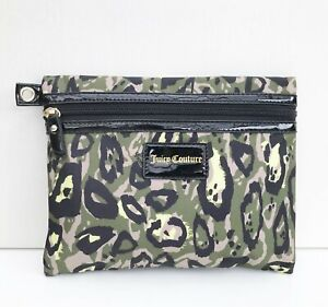 Juicy Couture Camouflage Print Makeup Bag / Pouch / Purse, Large Size, Brand NEW