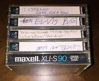 5 used Maxell XLI-S 90 min 1986 Epitaxial vintage normal Tape for Cassette deck