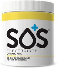 SOS Hydration Electrolyte Drink Powder Hydration Mix - 50 Serve Tub - Citrus